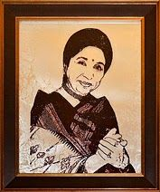 """""""Asha Bhosle - Portrait on Glass by CristalArt"""" Asha Bhosle is a renowned Indian singer, commonly referred to as Ashaji. She is best known as a playback singer in Hindi cinema. Apart from Hindi, she has sung in over 20 Indian and foreign languages..."""