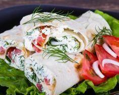 Wraps de maquereaux minceur tomate et au fromage frais aux herbes