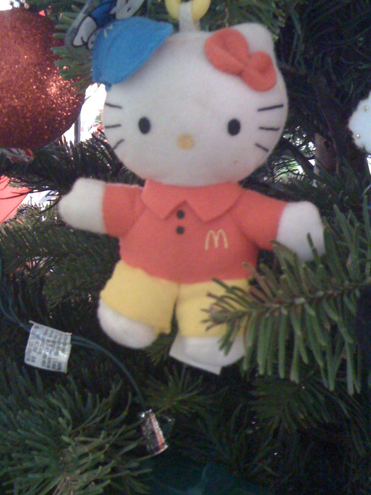 Mcdonalds Christmas ornaments, Hello kitty