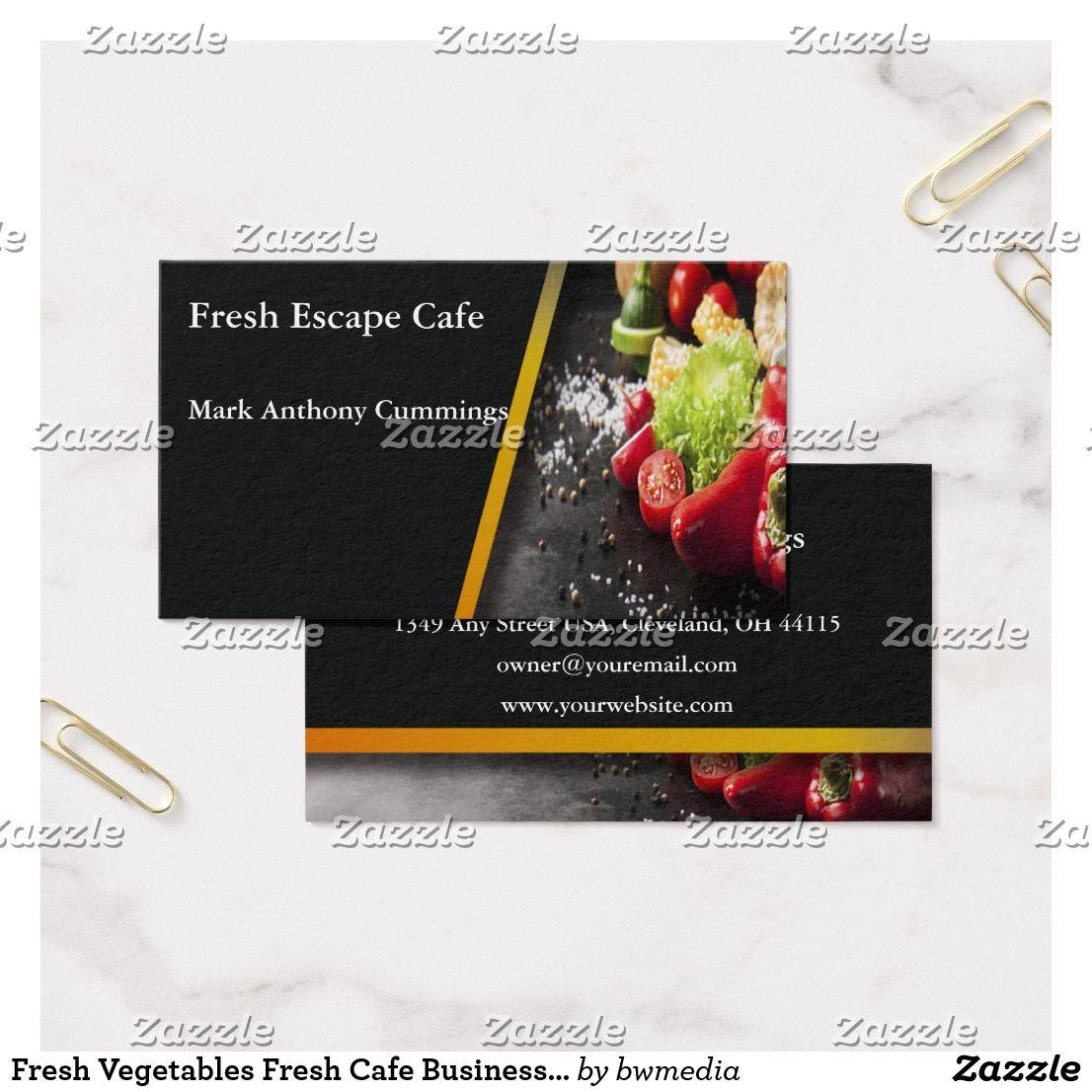 Fresh Vegetables Cafe Business Card