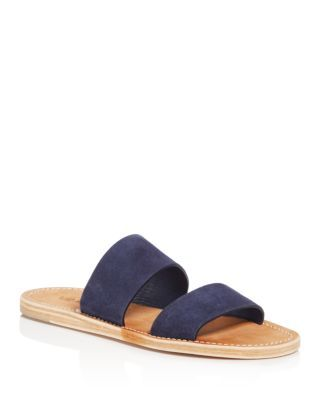 VINCE Women'S Travis Suede Flat Slide Sandals. #vince #shoes #flats