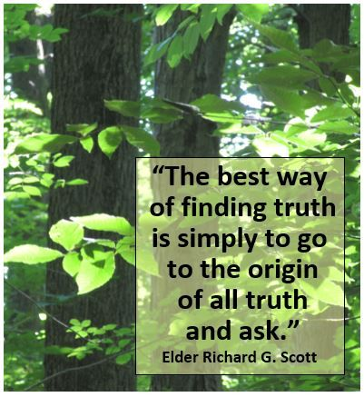 Quotation From Elder Richard G Scott Used In Video Origins