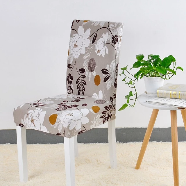 Elastic Printed Pattern Chair Cover 24 Designs (With