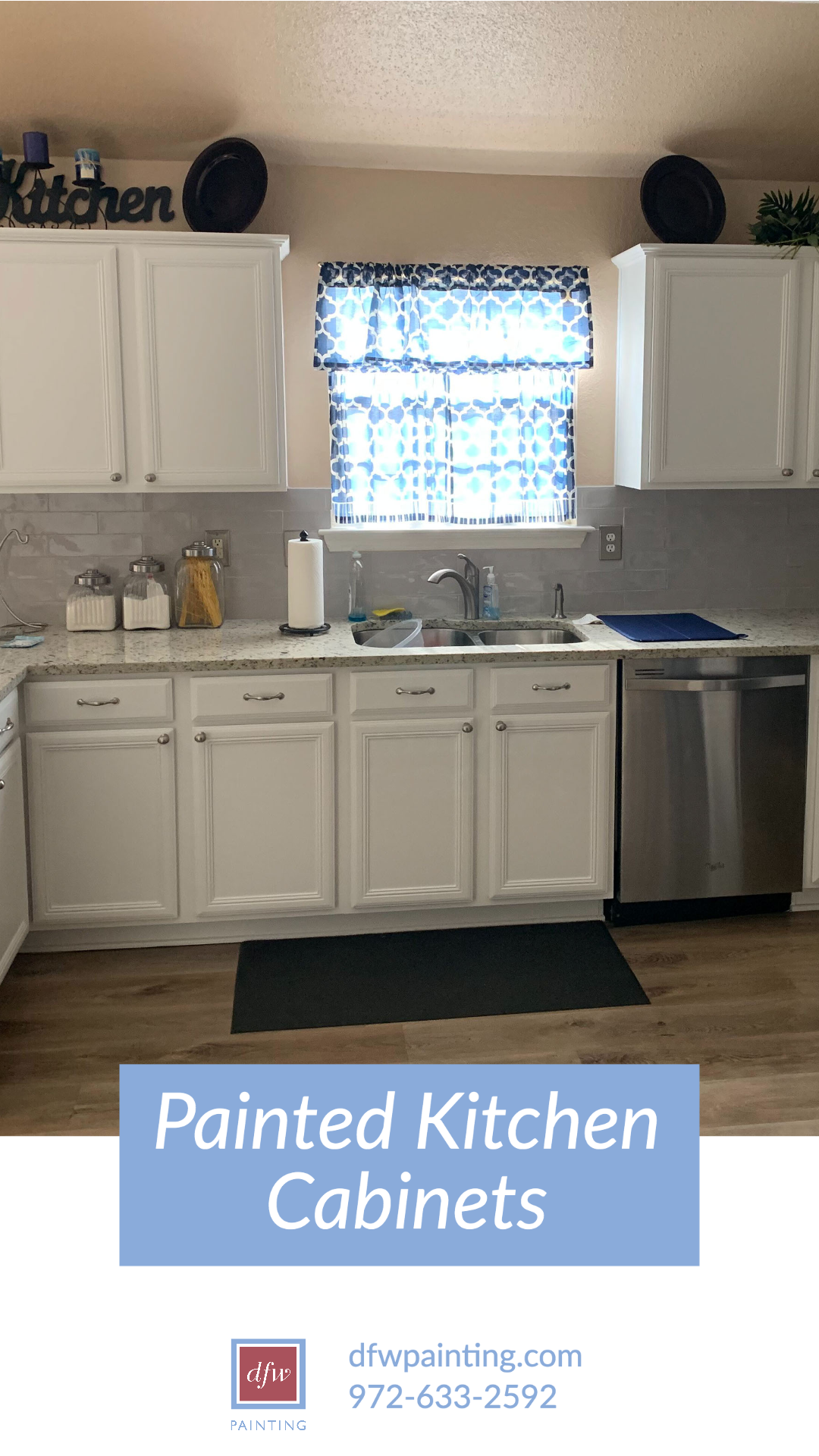 White Painted Kitchen Cabinets Dfw Painting In 2020 Painting Kitchen Cabinets Kitchen Cabinets Kitchen Paint