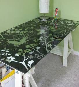 Ikea Glass Top Desktable