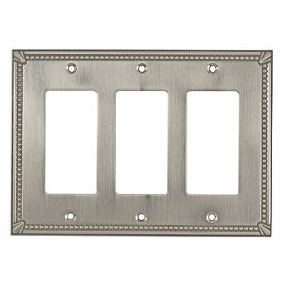 Richelieu This traditional Decora 3-Gang Rocker Wall Plate will enhance the style of any room. Designed with a rectangular shape and finished with fine detailing around the edges. Color: Brushed Nickel