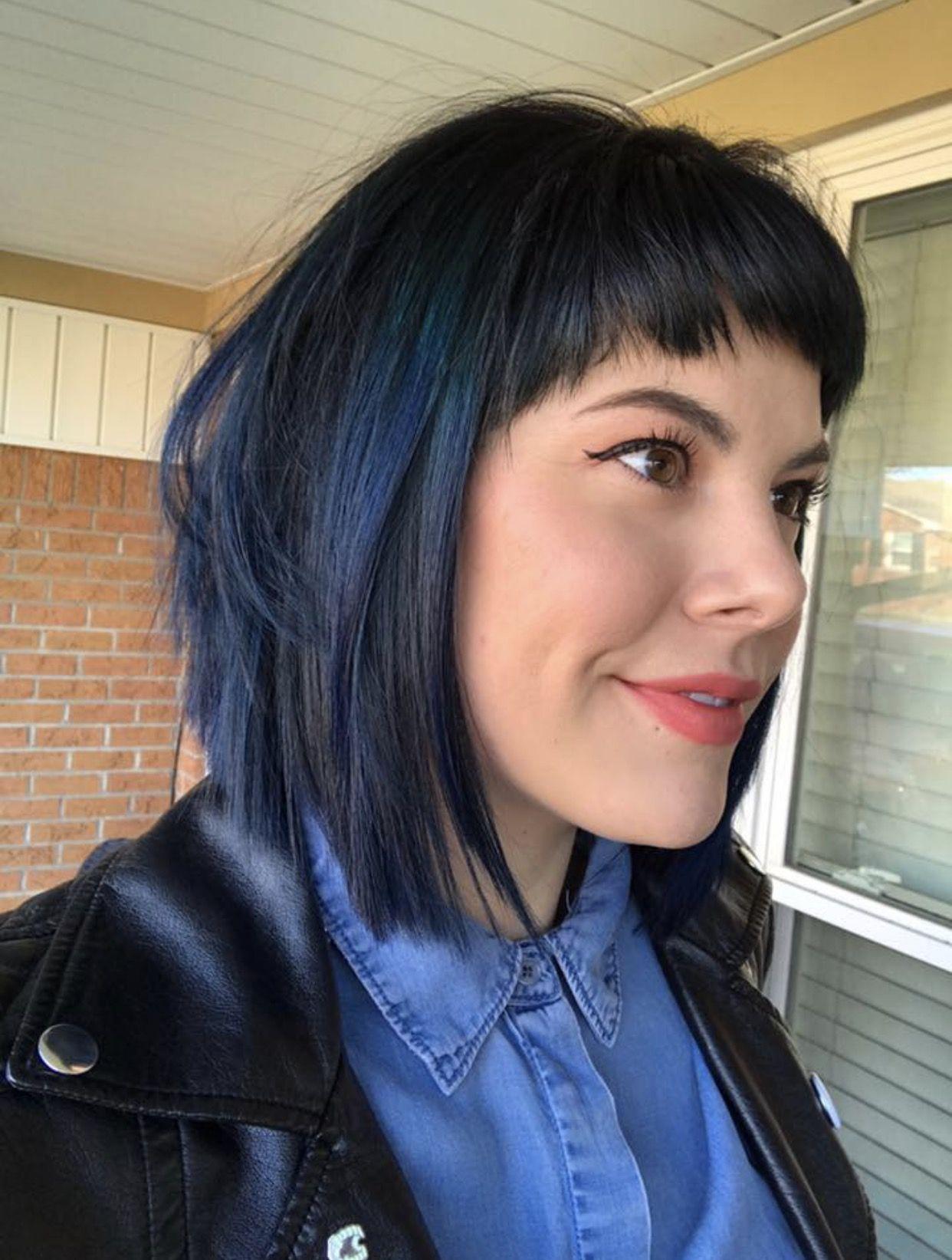 Navy Blue Hair Pravana Goldwell Navy Hair Blue Black