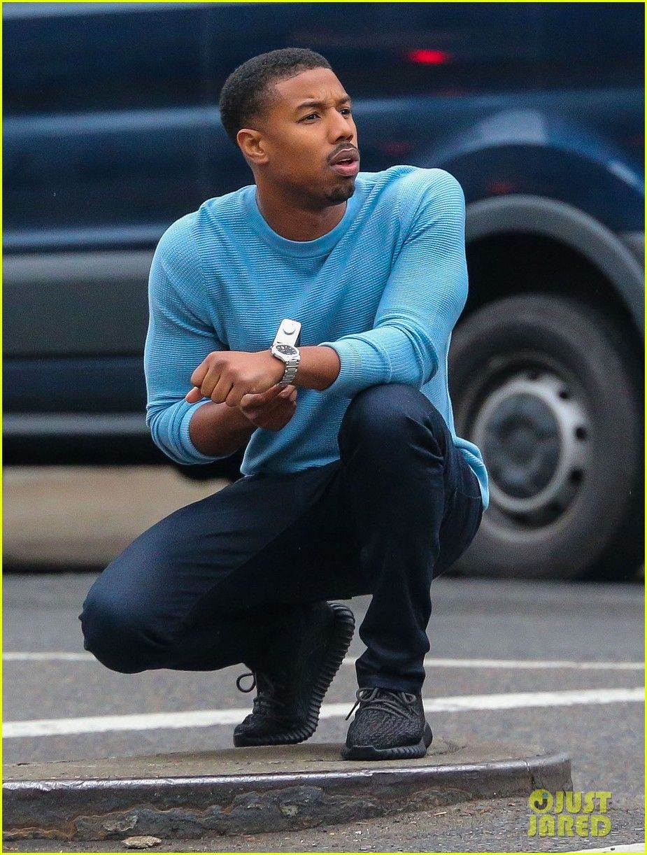 Michael B. Jordan Plays Mock Photographer for Photo Shoot: Photo Michael B.  Jordan poses for a picture while pretending to take a picture during a  photo ...