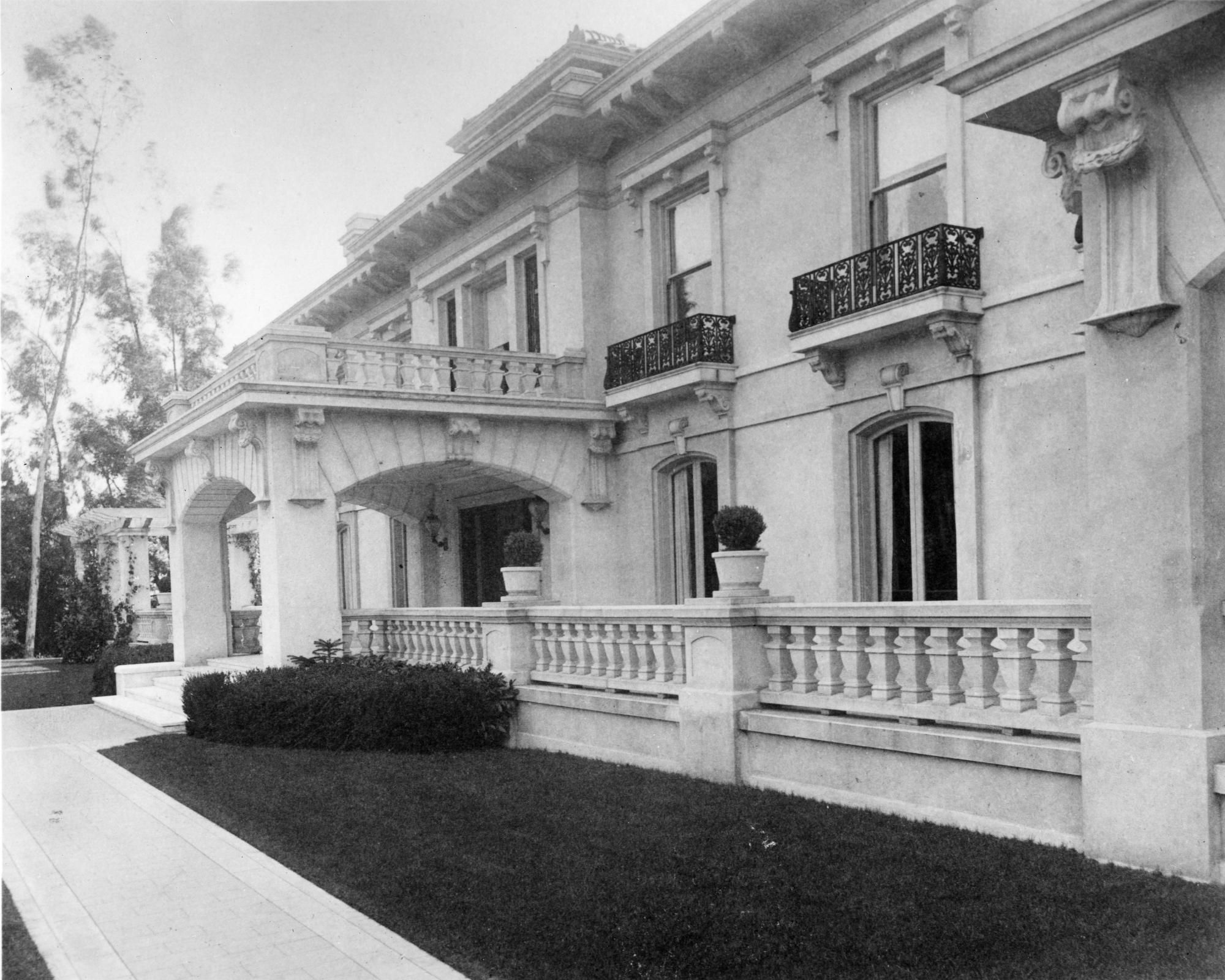 Wrigley Mansion, the Orange Grove Boulevard estate, serves as the ...