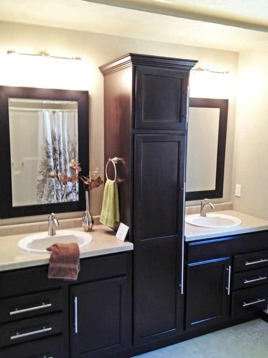 Bathroom Sink Split By Beautiful Linen Closet Bathroom