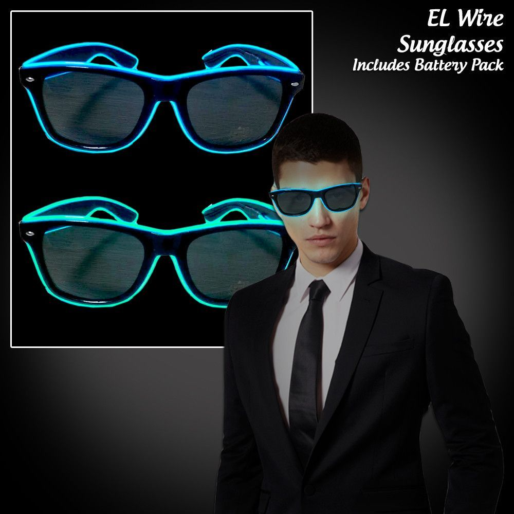 Neon Light up Sunglasses EL Wire | Neon lighting, Neon and Lights