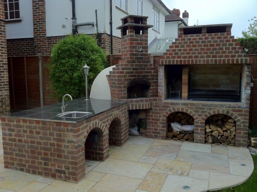 Outside Kitchen Ideas Design With Pizza Oven Http Myhomedecorideas Com Outside Kitchen I Outdoor Fireplace Kits Outdoor Kitchen Countertops Outdoor Kitchen