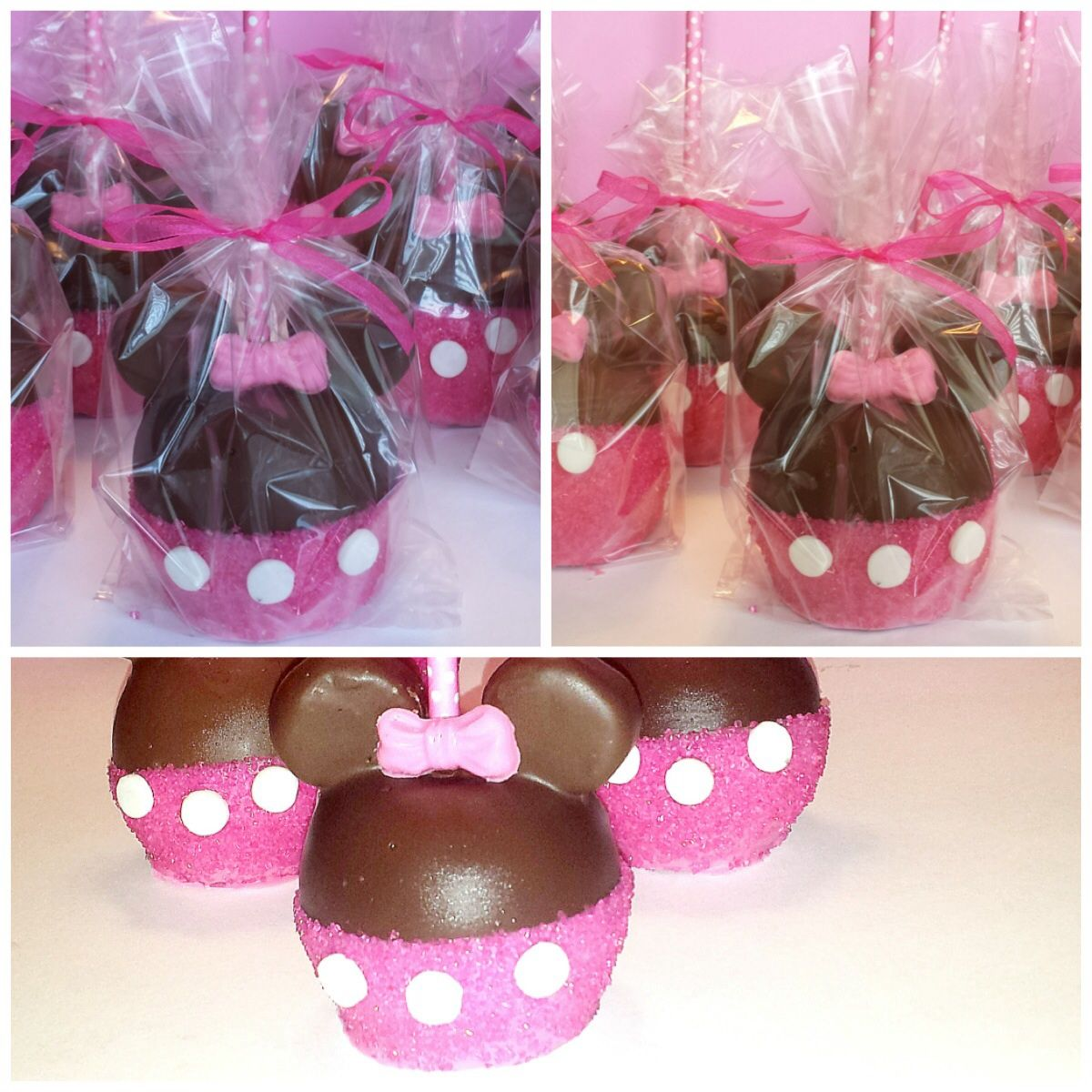 Minnie Mouse Candy Apples | apple | Pinterest | Candy apples, Minnie ...