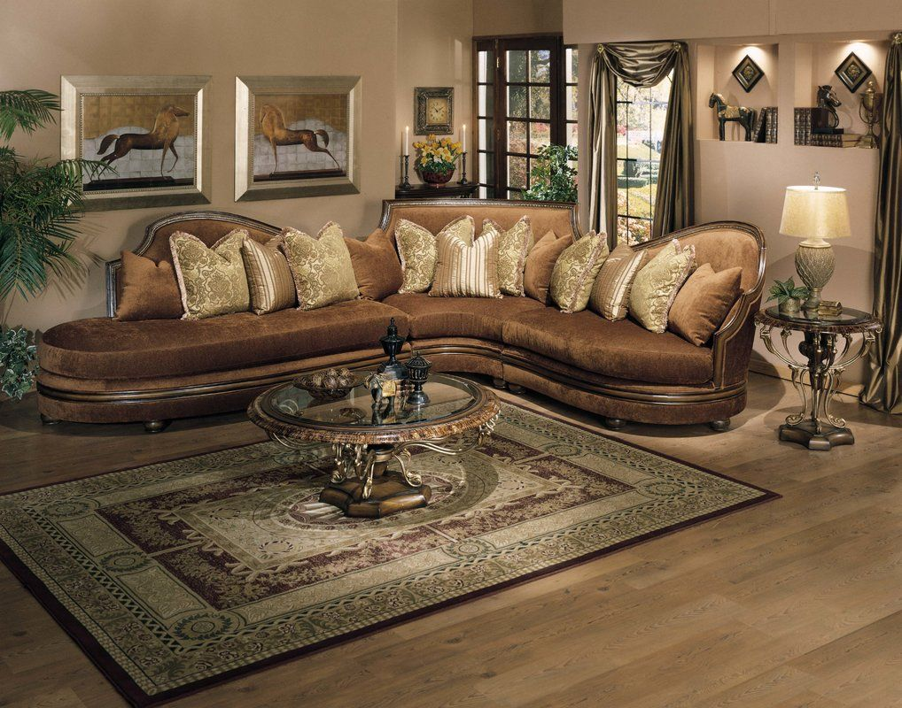 Ravenna Sectional Luxury Living Room Elegant Living Room Sectional Sofa Couch