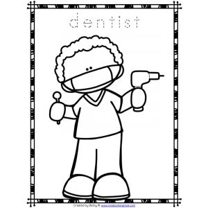 preschool community helpers coloring pages-#26