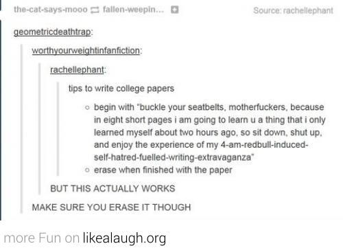 How to write a college paper Remember this kids! I know I will - how to write a paper