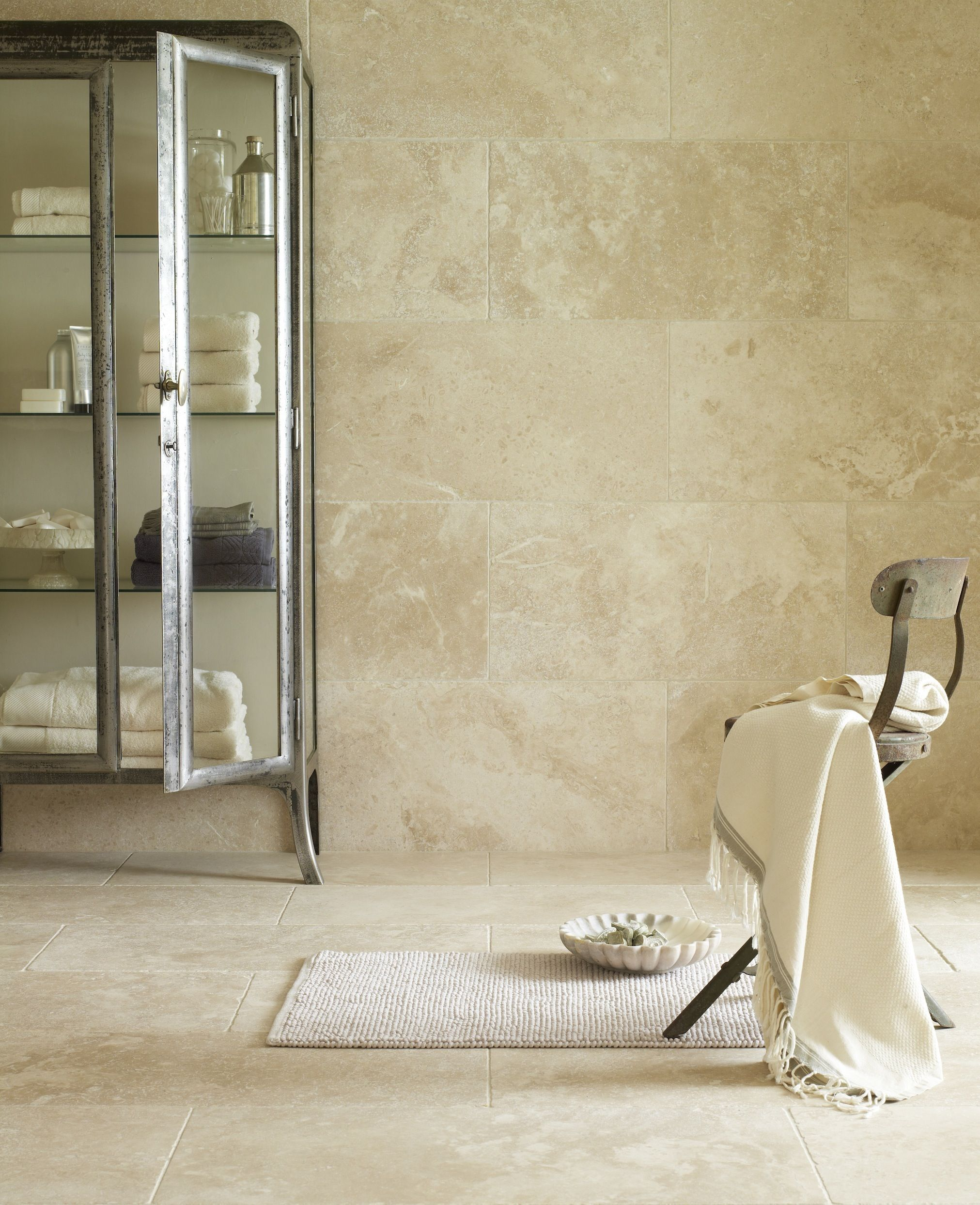 Corinth Tumbled Travertine Tile   Stone tiles, Travertine and ...