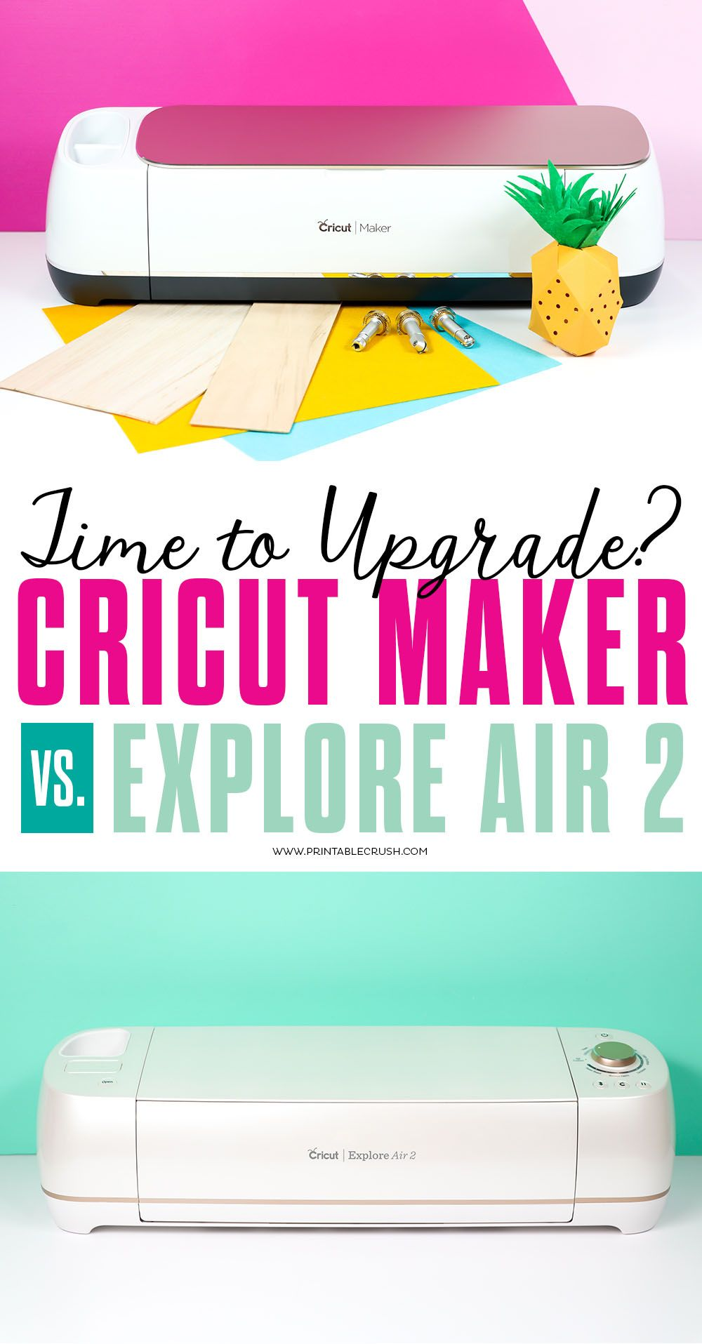 Cricut Maker Vs Explore Air 2 Cricut explore air, Cricut