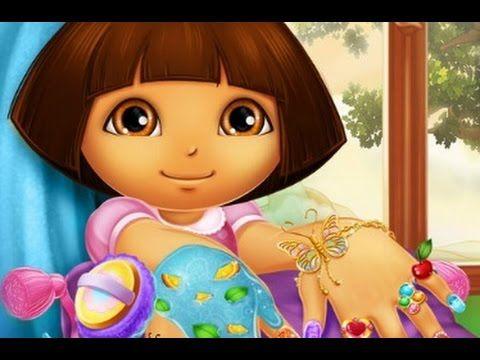 كرتون دورا تلوين اظافر دورا الجميلة العاب كرتون للاطفال 2016 Dora Games Free Games For Kids Barbie Games