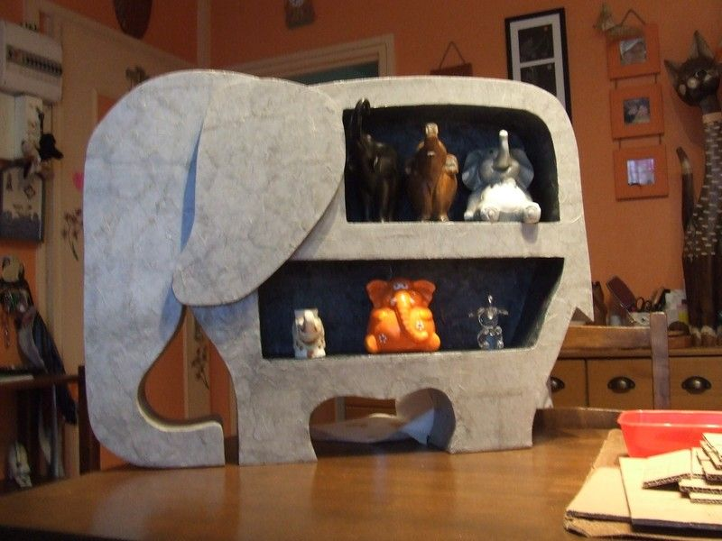 Great for a kid 39 s room cardboard toys pinterest - Meuble en papier mache ...