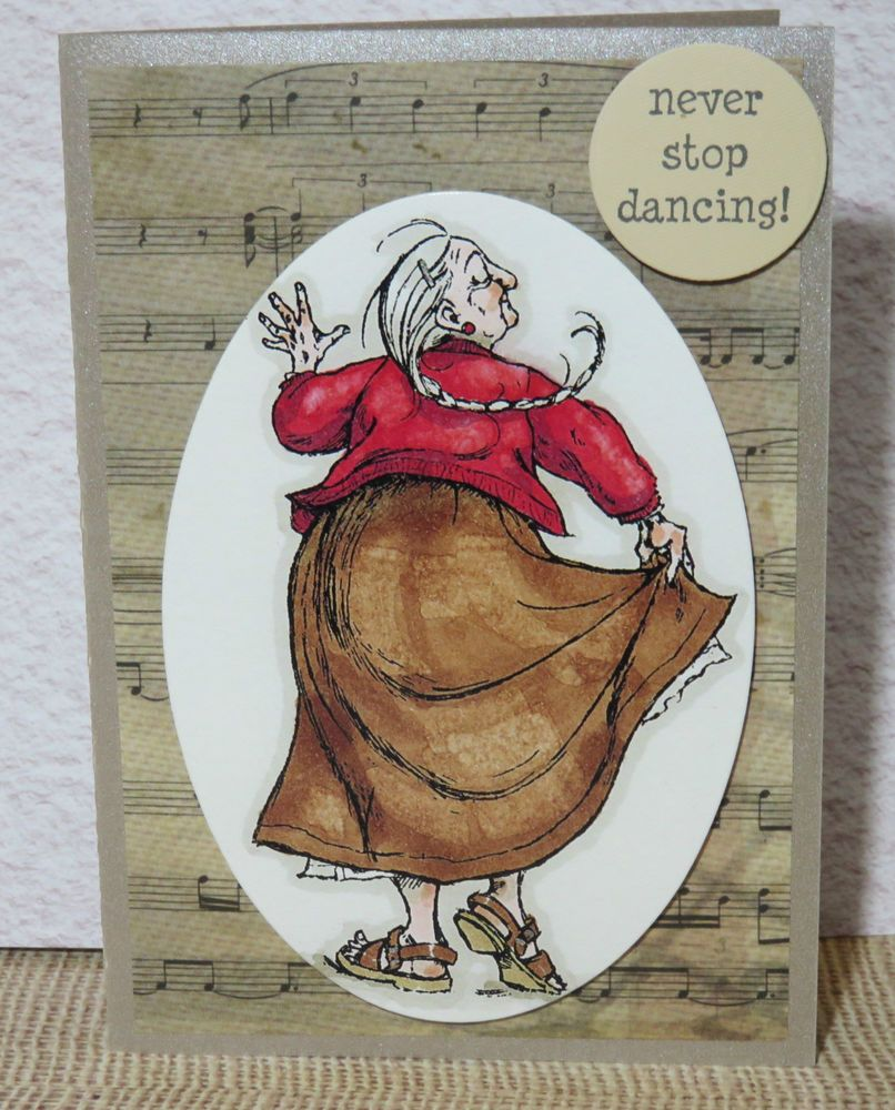 Handmade greeting card birthday gift any occasion never stop dancing