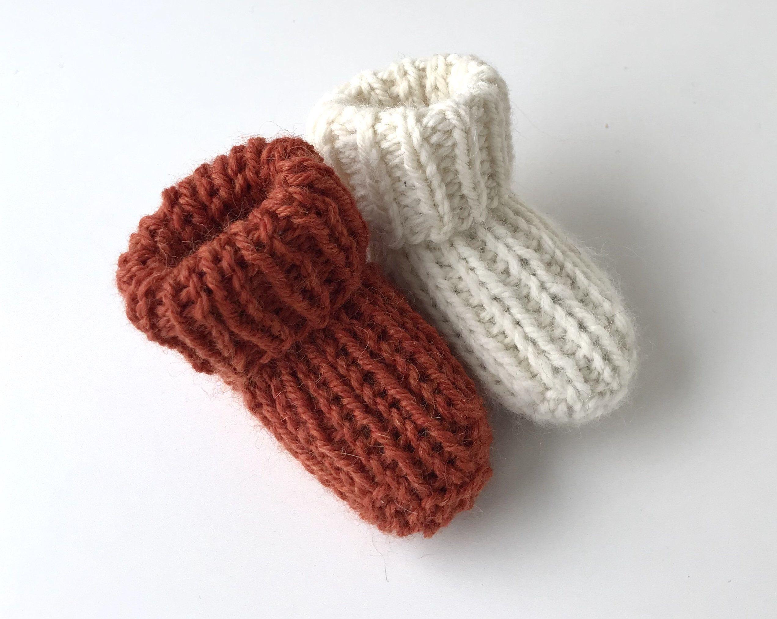 Baby socks pattern, Easy Knit socks pattern, Simple knit ...