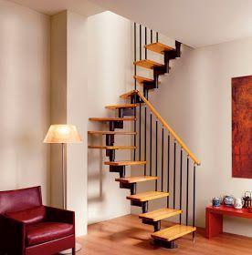 Escaleras que menos espacio ocupan espacios reducidos for Arredamento casa moderna piccola