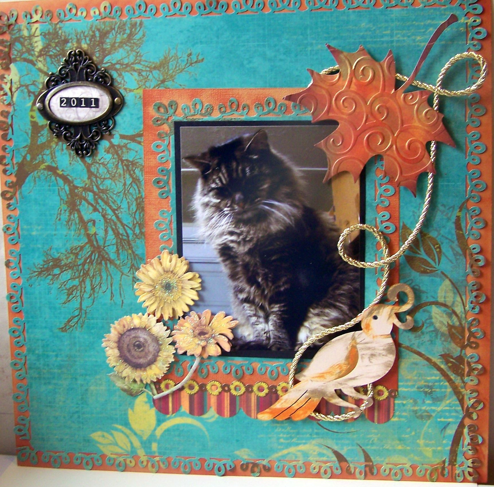 Missy The Maine Coon Cat Scrapbook Layout Scrapbooking