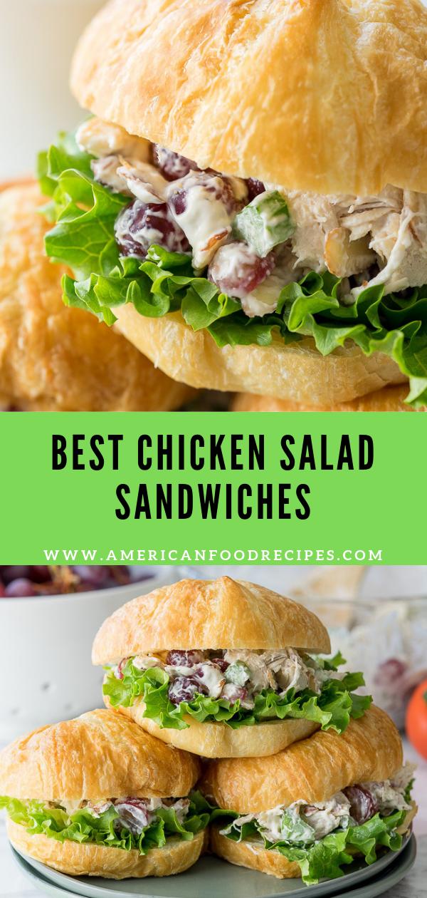 Best Chicken Salad Sandwiches - American Food Recipes,  #American #Chicken #chickensaladrecipe #food #Recipes #Salad #Sandwiches