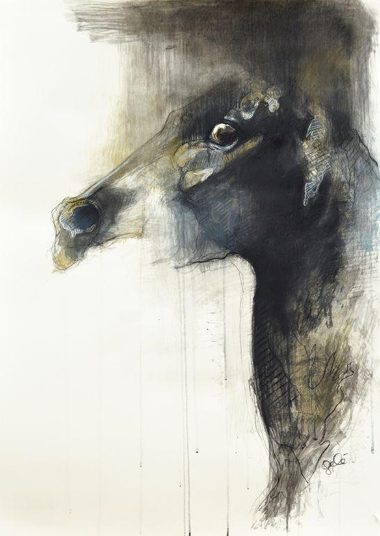 "Saatchi Art Artist: Benedicte Gele; Pastel Drawing ""Le cri I"""