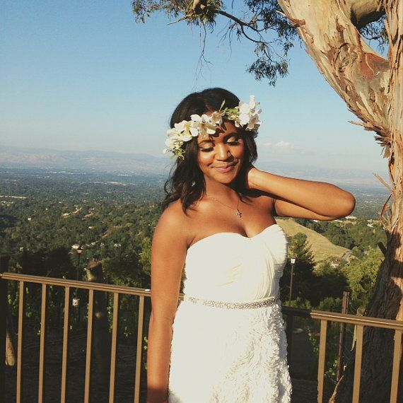 Artificial Flower Crown by CamoAndChanel on Etsy, $10.00