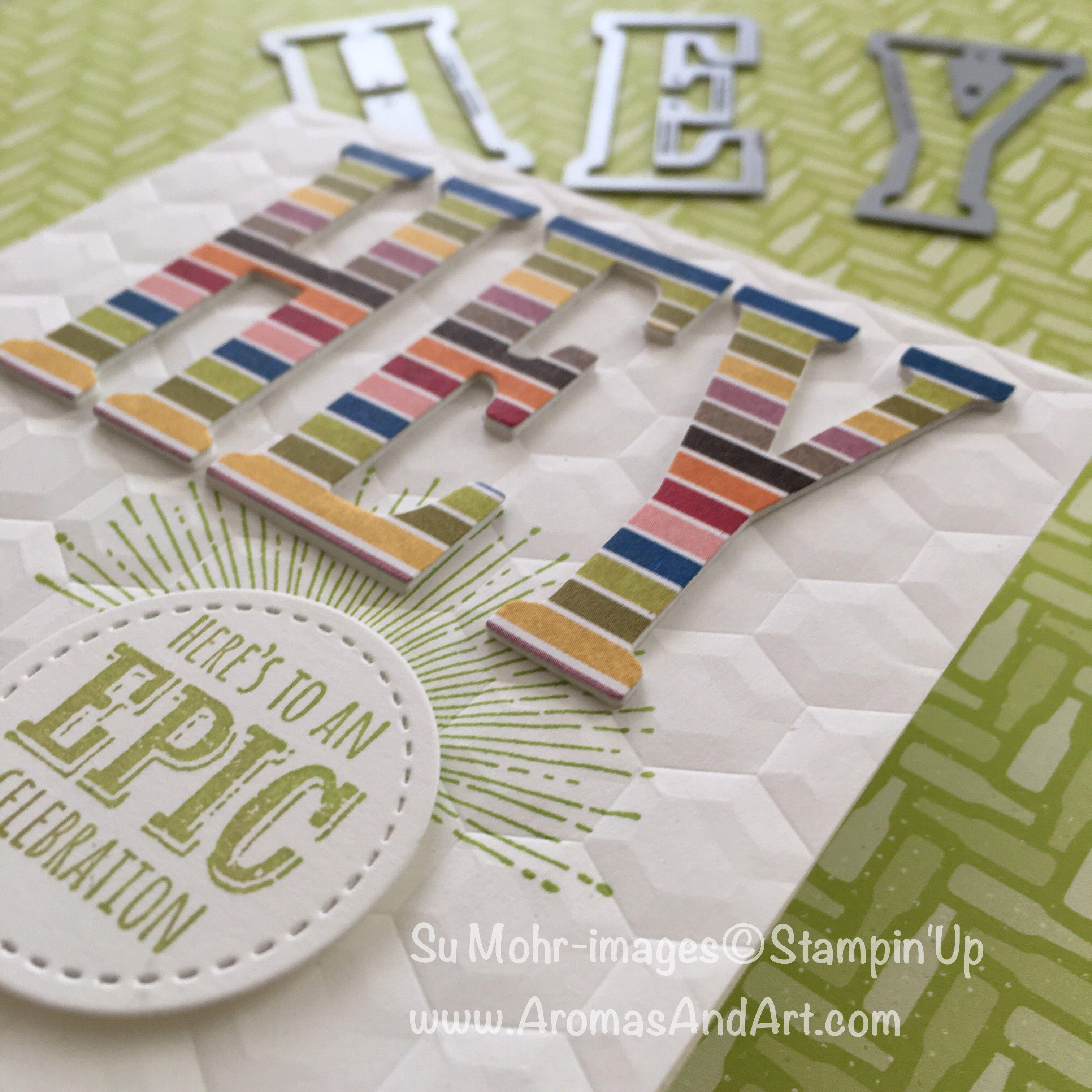 Epic celebrations birthday card aromas and art