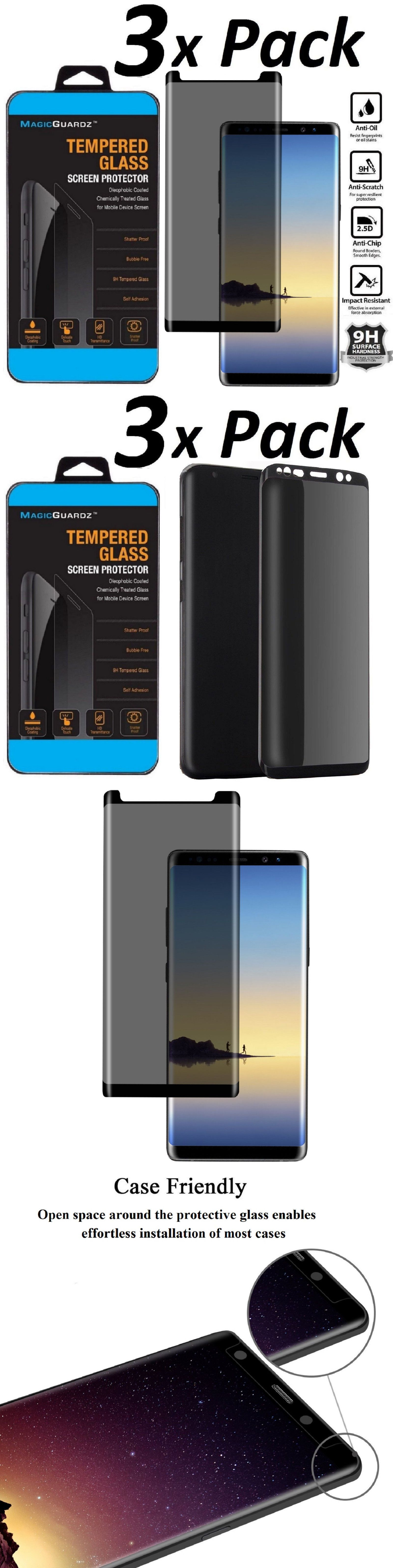 Details About Privacy Screen Protector Tempered Glass For Samsung Galaxy S8 S9 Plus Note 8 9 Privacy Screen Tempered Glass Screen Protector Screen Protector