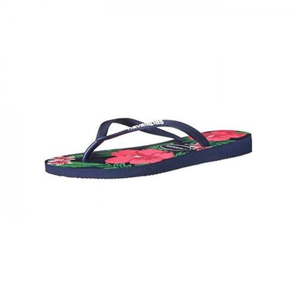 10598f66c Havaianas - Women s shoe Women Sandals Havaianas Women s Slim Floral Flip- Flop Navy Blue