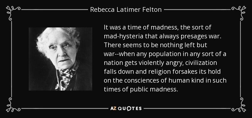 Rebecca Latimer Felton Quote | Falling down, Conscience, Latimer