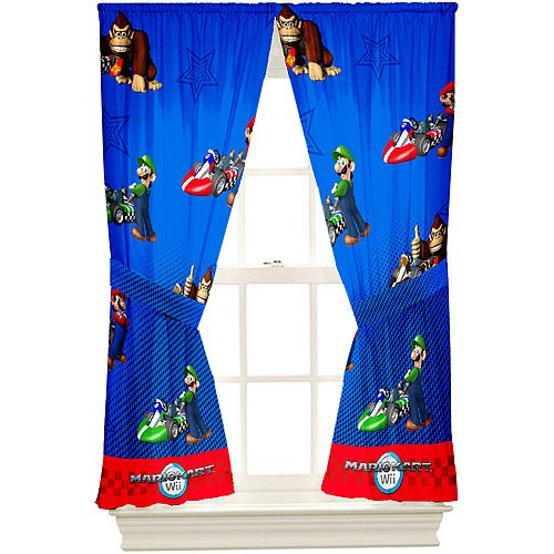 Landon S Room Mario Bedding Mario Room Rod Pocket Drapes