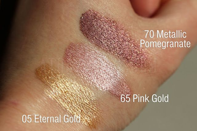 Maybelline Color Tattoo 24 Hr 05 Eternal Gold 65 Pink Gold I 70 Metallic Pomegranate Maybelline Color Tattoo Swatches Maybelline Color Tattoo Swatch Pink