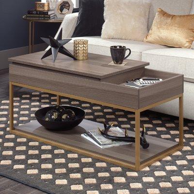 Willa Arlo Interiors Broadridge Coffee Table With Tray Top And