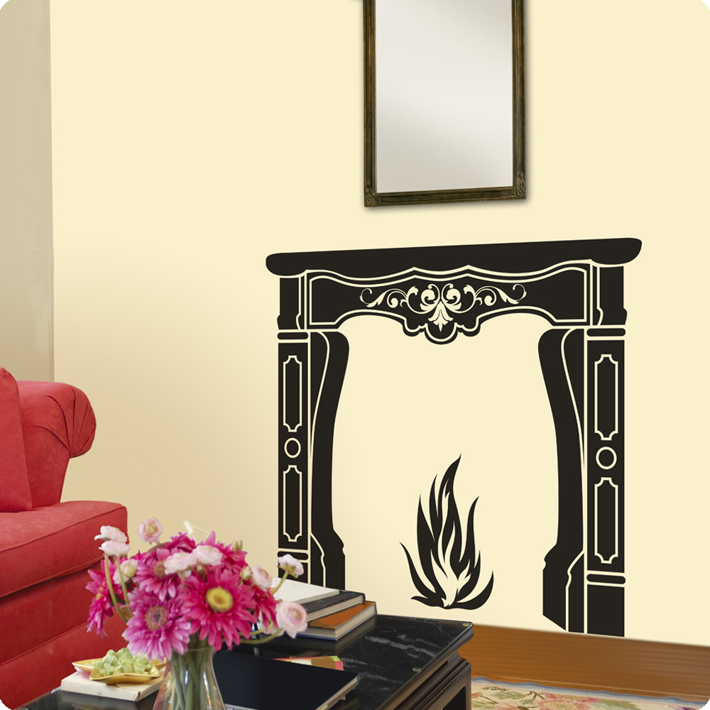 Fireplace Wall Decals Add Heres Audrey Fireplace Wall Decals
