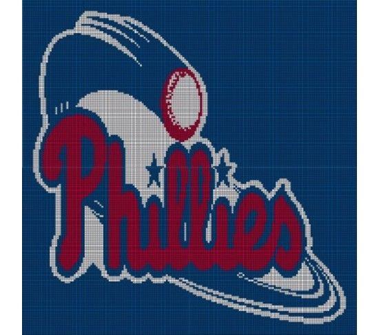 Philadelphia Phillies Crochet Pattern Afghan Graph   Crochet   Pinterest