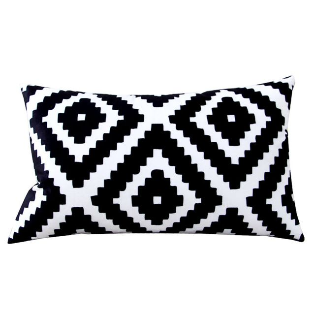 Rectangular Decorative Pillows Case Nordic Style Throw Pillow Cover Black And Whi Throw Pillow Styling Decorative Pillow Combinations Rustic Decorative Pillows