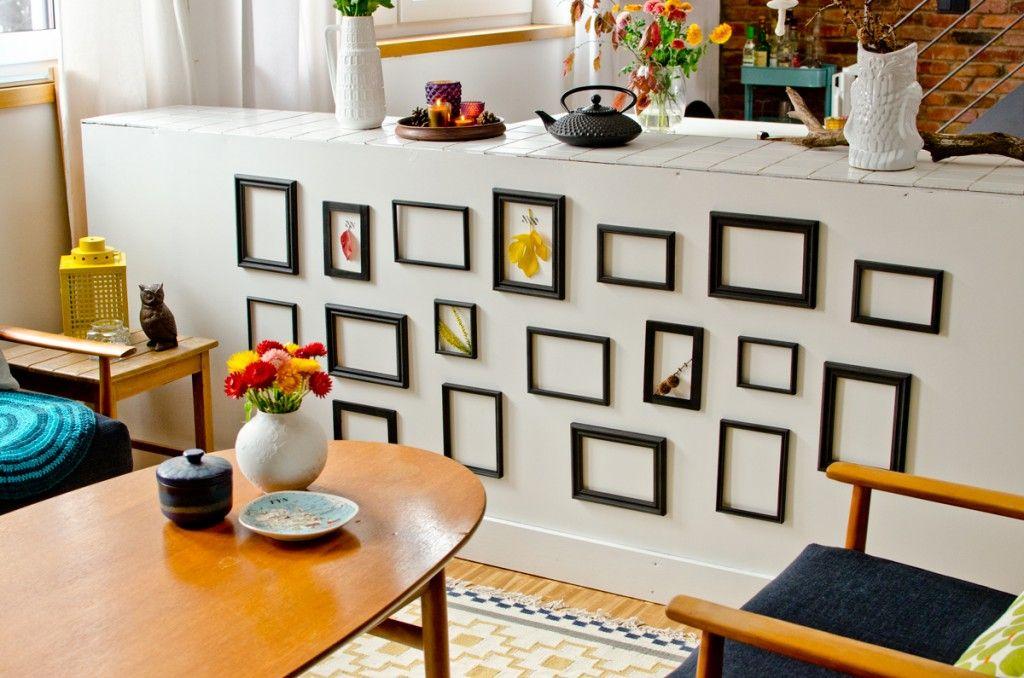DIY Dekoideen mit alten Bilderrahmen als dekorative Wandgestaltung ...