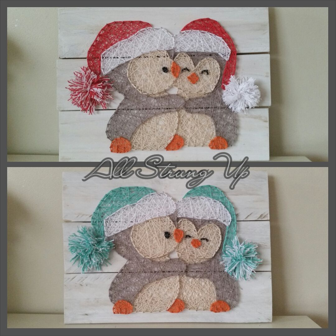 Thanks for looking penguin christmas string art made by hand with penguin christmas string art made by hand with love in nsw solutioingenieria Gallery
