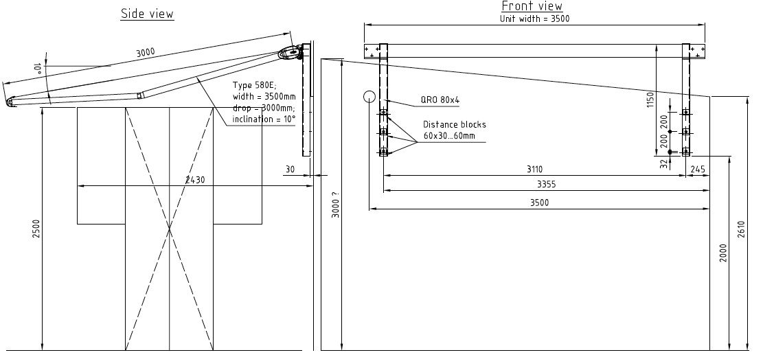 Retractable Awning Cad Details