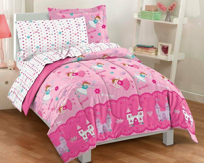 Ebay Sponsored New Magical Princess Hearts Pink Girls Bedding