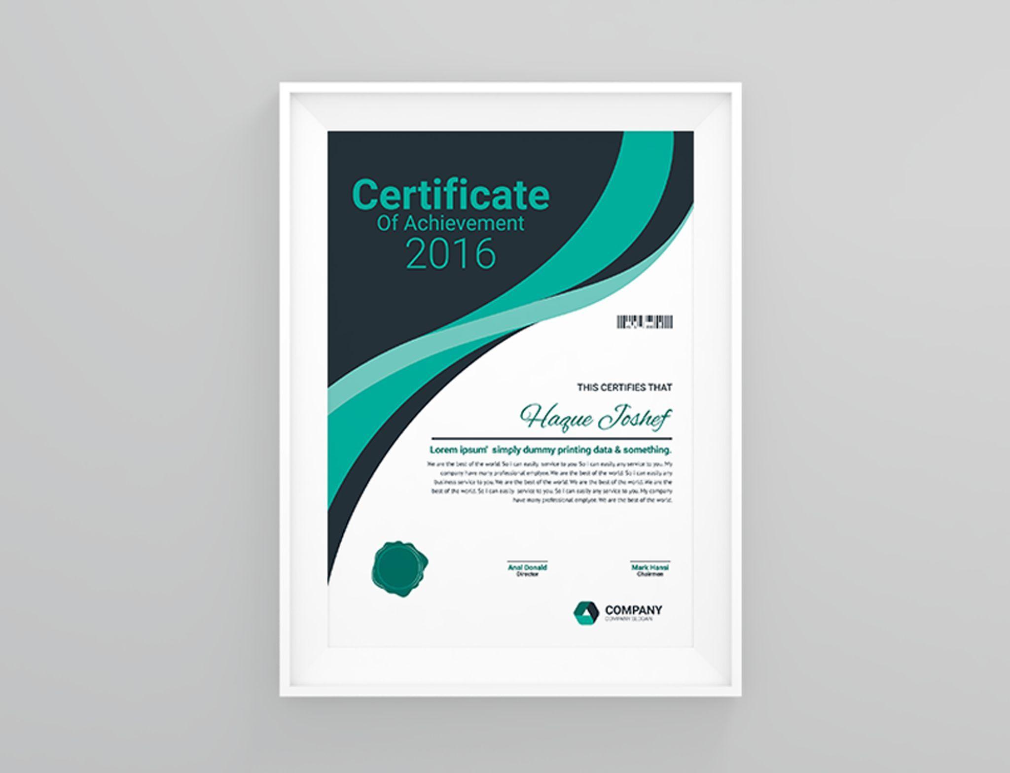 Insurance Company Certificate Template 66464 Certificate Templates Interior Design Courses Online Corporate Brochure Design