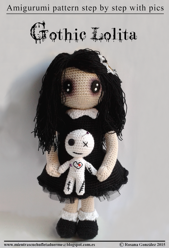 GOTHIC LOLITA PATTERN WITH AMIGURUMI voodoo doll | Cuchufleta While ...