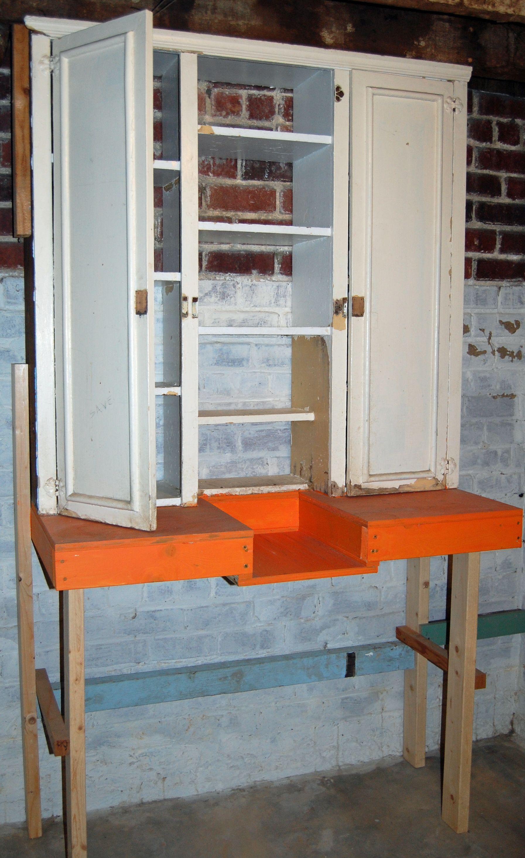 Repurposed Potting Bench Restore Potting Bench Repurposed Old Kitchen Cabinets