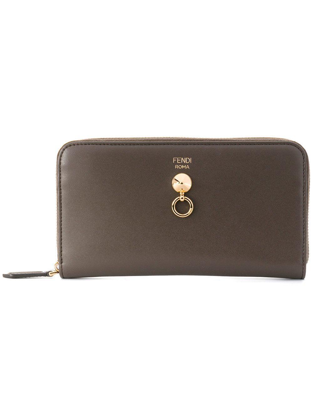 9d3fba2df989 fendi  women  continental  wallet  zipped  leather  roma  style www ...