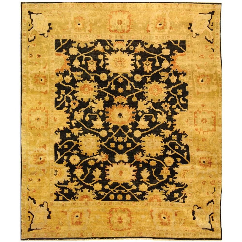 Oushak Black Light Gold 8 Ft X 10 Ft Area Rug Area Rugs Rugs